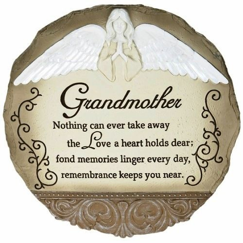 "Sympathy Quotes For Loss Of Grandmother  ""Loss of Grandmother"" Angel Memorial Stone"