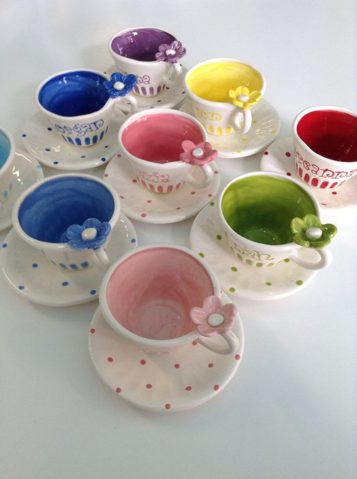 Tea Party Favors For Kids  Child s Personalized tea cup party favor by
