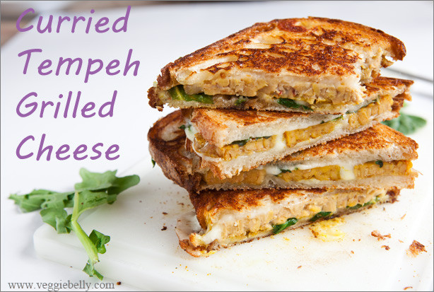 Tempeh Sandwich Recipes  Curried Tempeh Grilled Cheese Sandwich with Mango Chutney