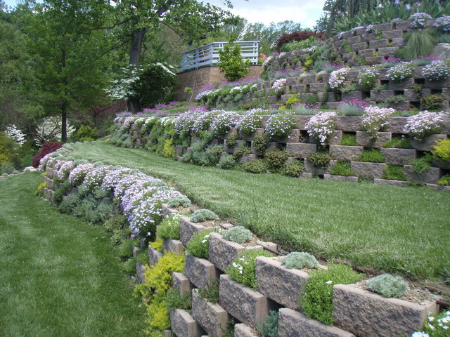 Terrace Landscape Architecture  Living Walls A Terraced Garden in Pikesville