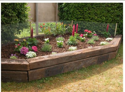 Terrace Landscape With Railroad Ties  1000 ideas about Railroad Ties Landscaping on Pinterest