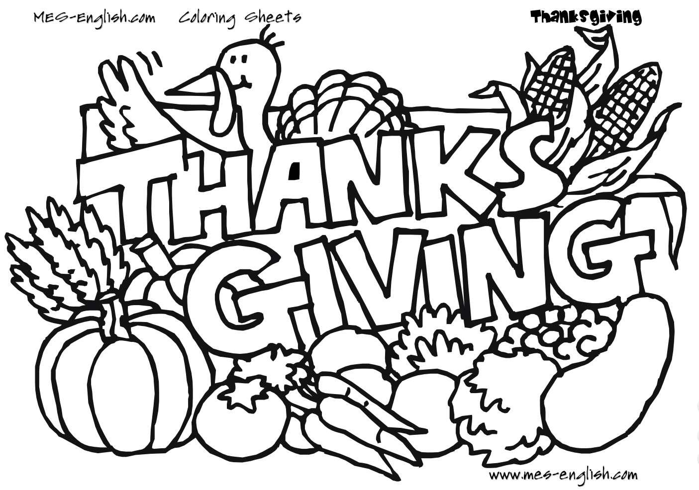 Thanksgiving Coloring Pages For Children  Keep Kids Busy with Free Thanksgiving Coloring Pages