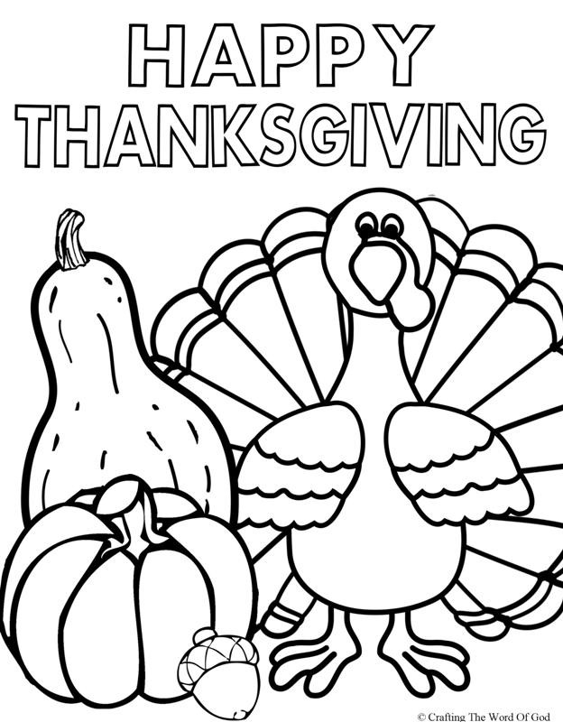 Thanksgiving Coloring Pages For Children  Happy Thanksgiving 2 Coloring Page Crafting The Word God