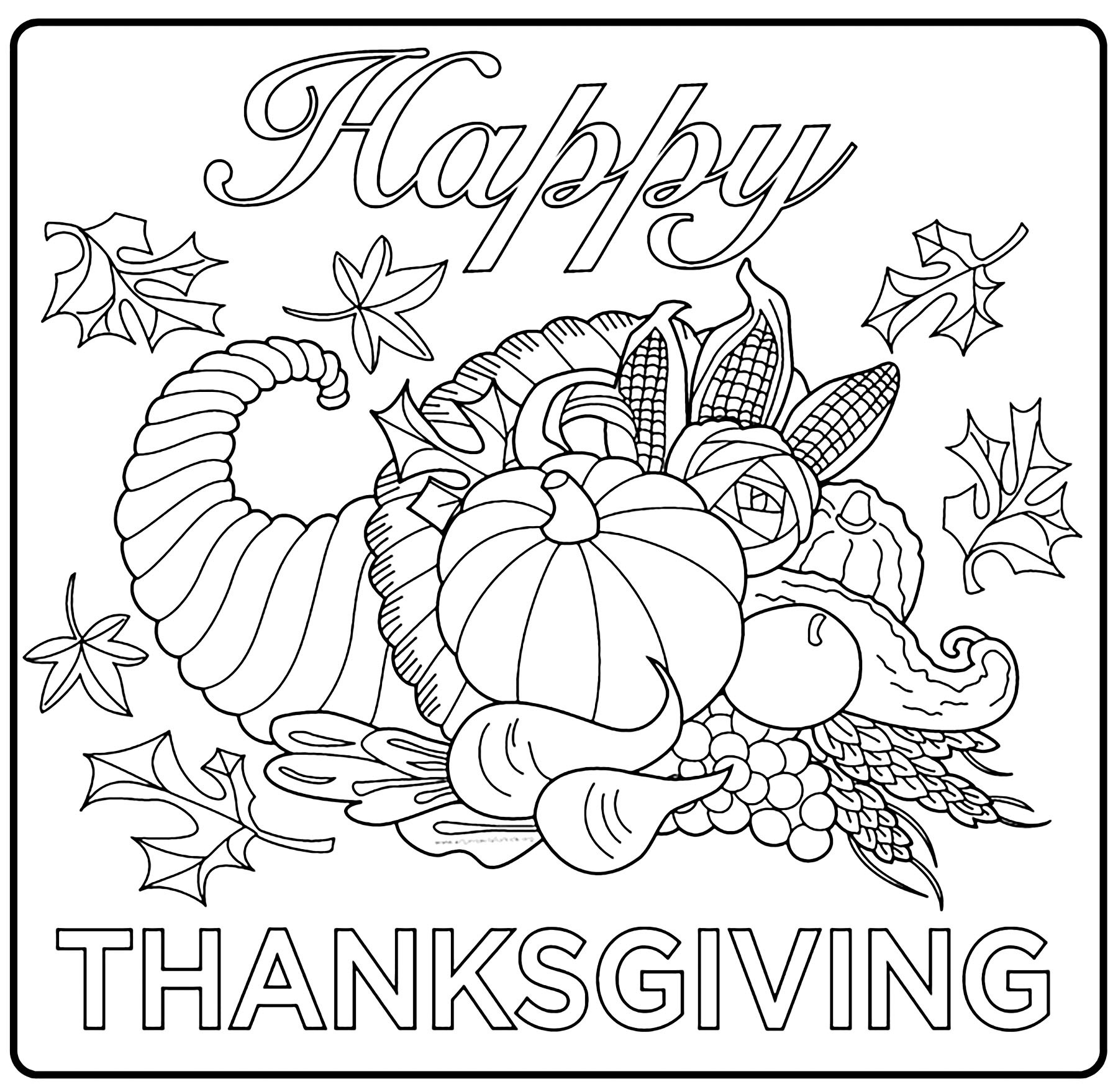 Thanksgiving Coloring Pages For Children  Thanksgiving free to color for children Thanksgiving