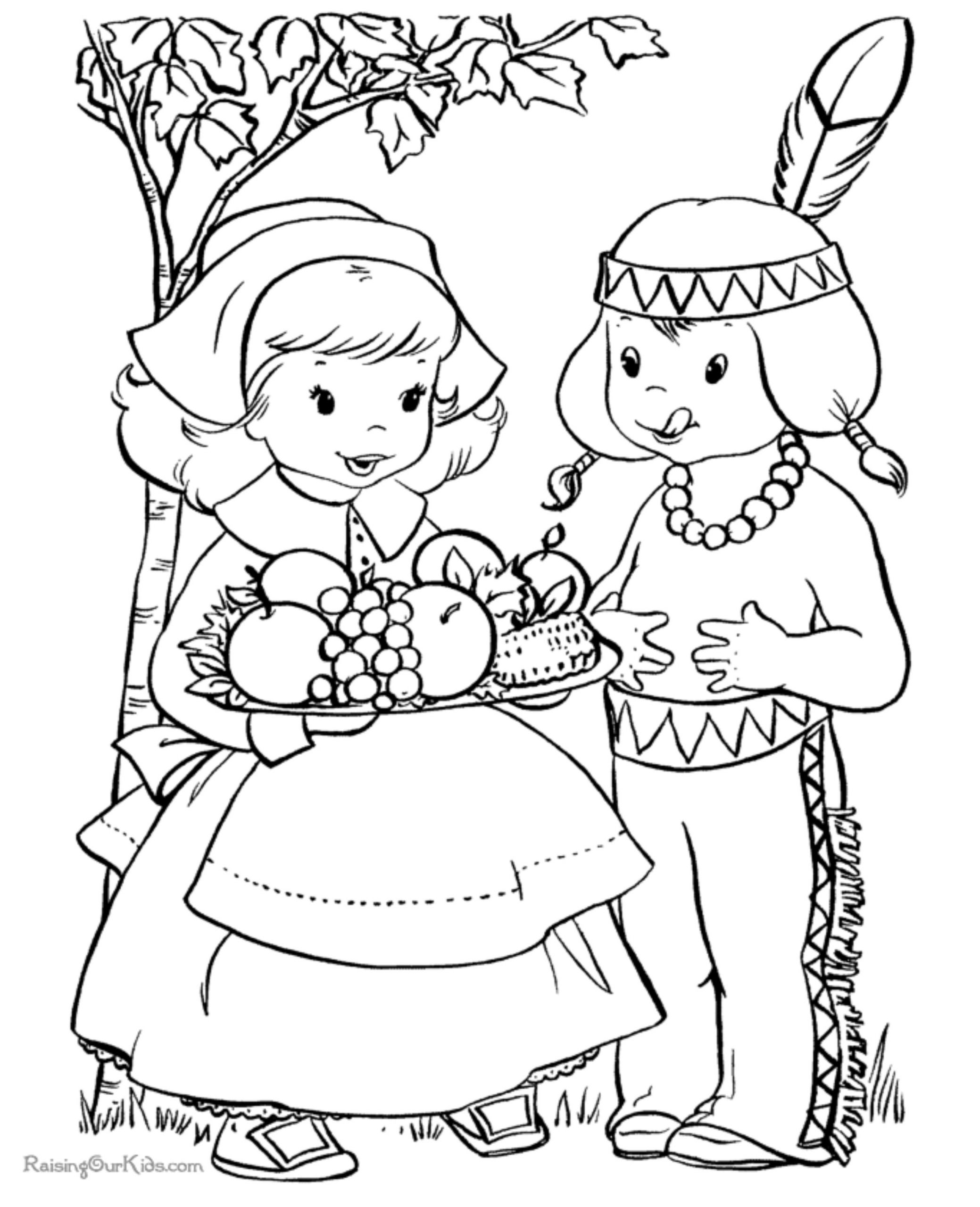 Thanksgiving Coloring Pages For Children  Kid's Coloring Pages Northern News