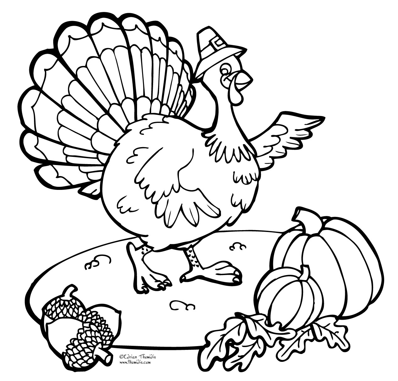 Thanksgiving Coloring Pages For Children  ThanksGiving Coloring Pages Free Printable