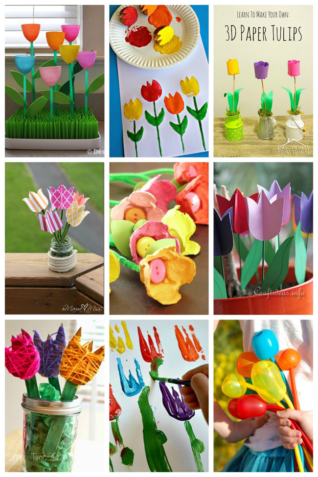 Toddler Arts And Crafts Ideas  25 Tulip Crafts for Kids