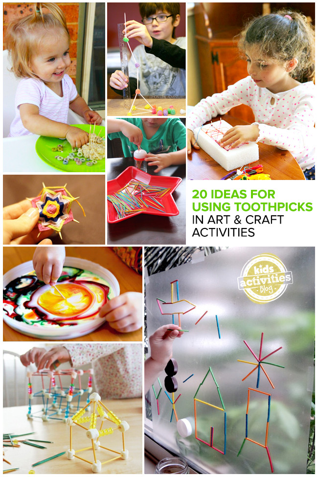 Toddler Arts And Crafts Ideas  20 Great Ideas for Using Toothpicks in Art and Craft