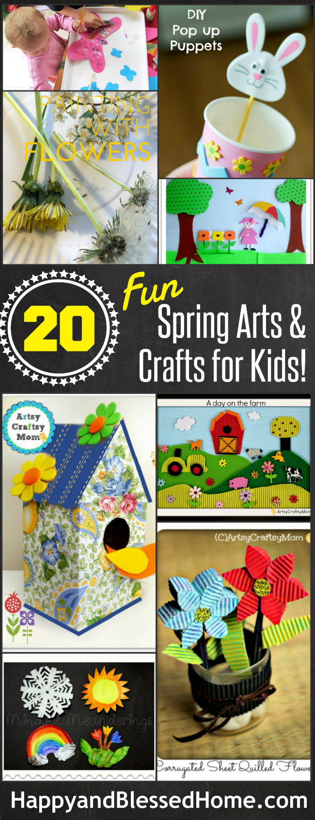 Toddler Arts And Crafts Ideas  The Ultimate List of 20 Spring Arts and Crafts for Kids