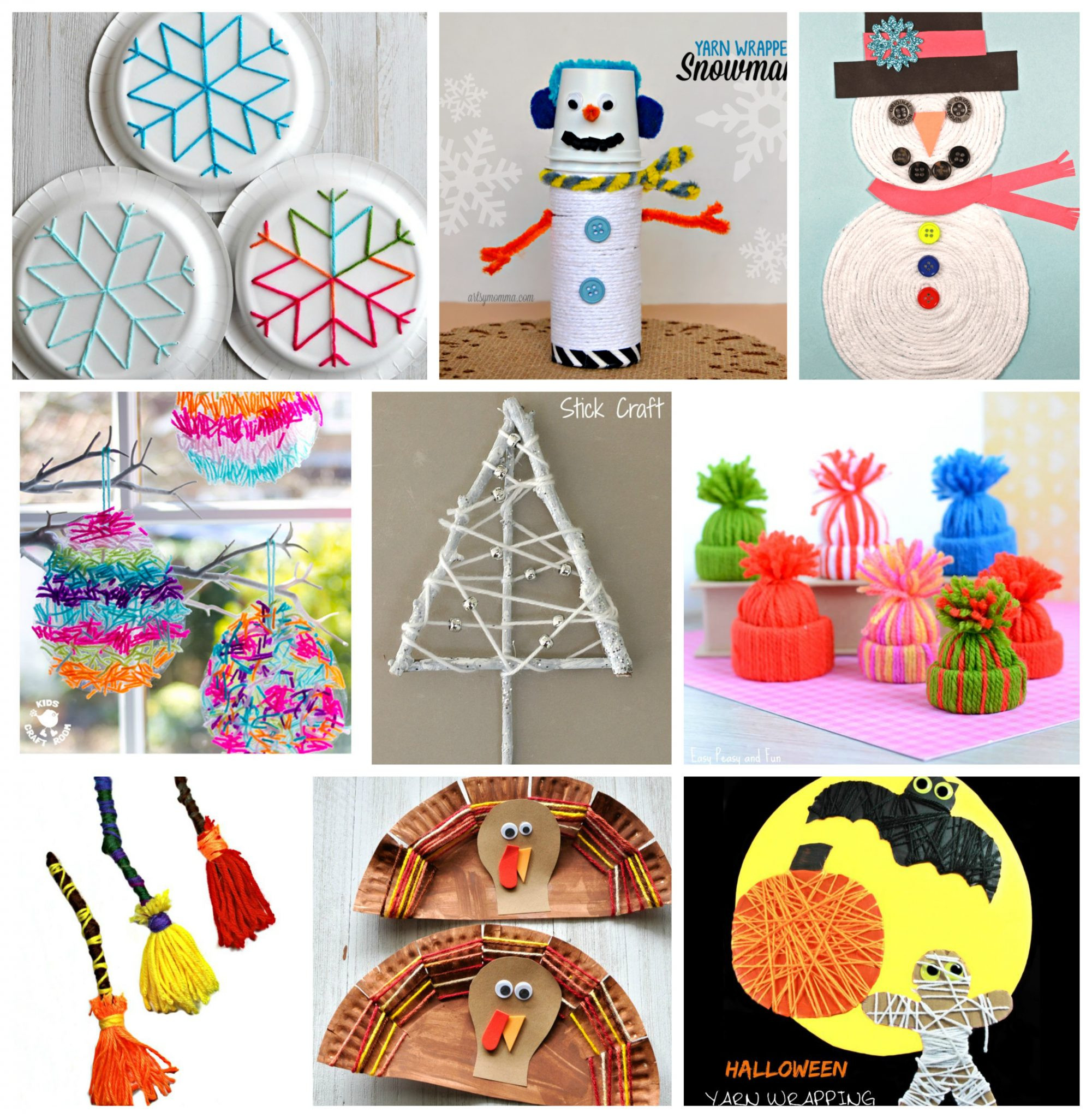 Toddler Arts And Crafts Ideas  40 Fun Fantastic Yarn Crafts – The Pinterested Parent