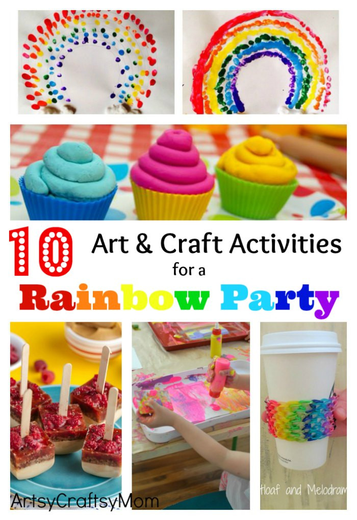Toddler Arts And Crafts Ideas  10 Art and Craft Activities for a Rainbow Party Artsy