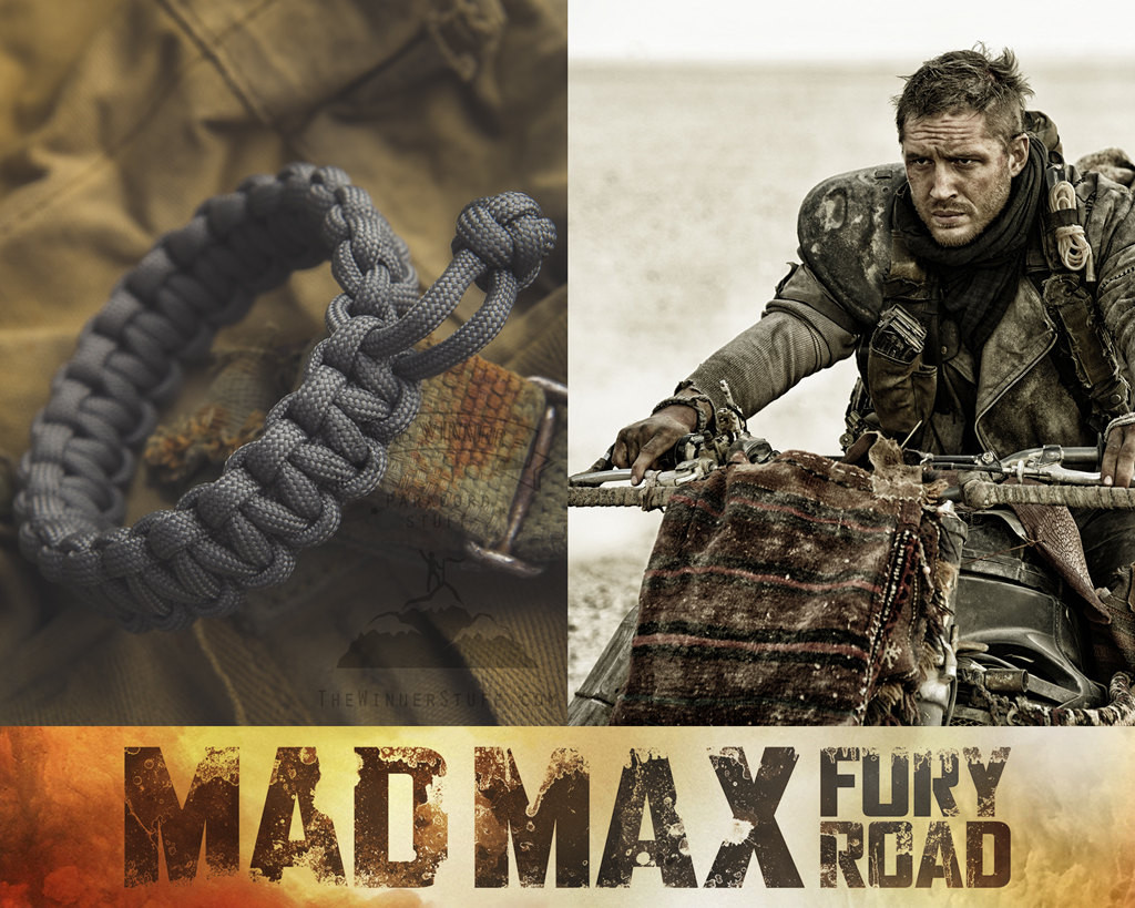 Tom Hardy Bracelet  Mad Max Fury Road Tom Hardy Paracord Survival Bracelet