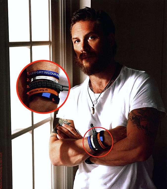 Tom Hardy Bracelet  fabulous Tom Hardy Tom Hardy is a man of many charities