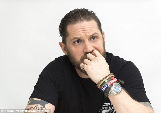 Tom Hardy Bracelet  Tom Hardy shows off buff biceps and tattoos as he promotes