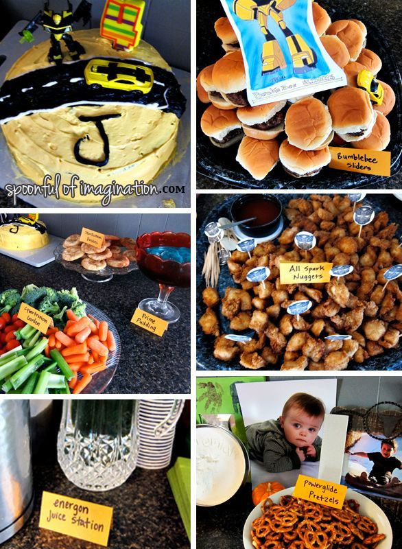 Transformer Birthday Party Food Ideas  To Clean or Not to Clean