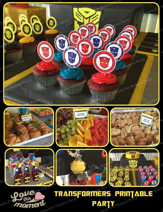 Transformer Birthday Party Food Ideas  Transformers Printable Birthday Party Package Bumblebee