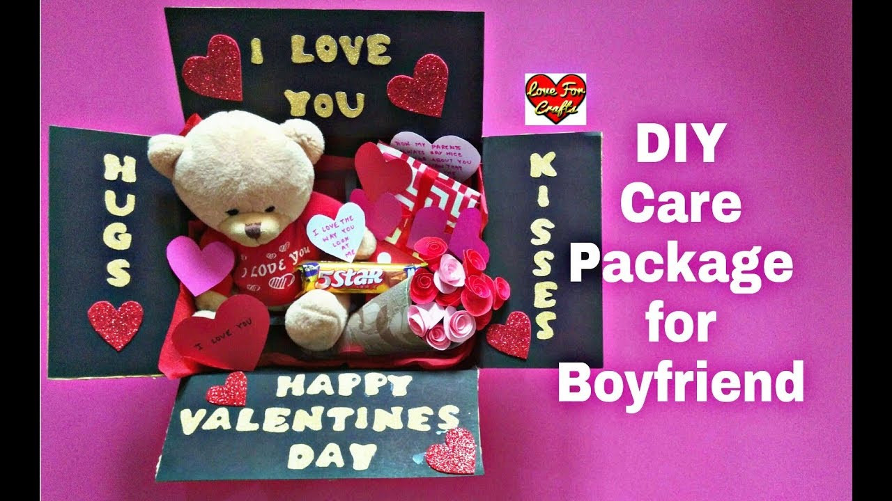 Valentine Boyfriend Gift Ideas  DIY Care Package for Boyfriend