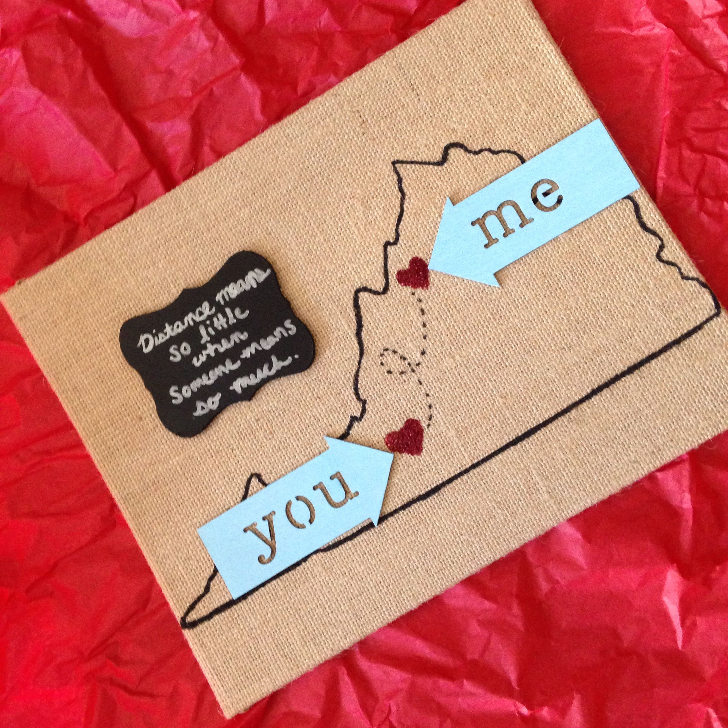 Valentine Gift Ideas For My Boyfriend  I m in a long distance relationship & I made this for my