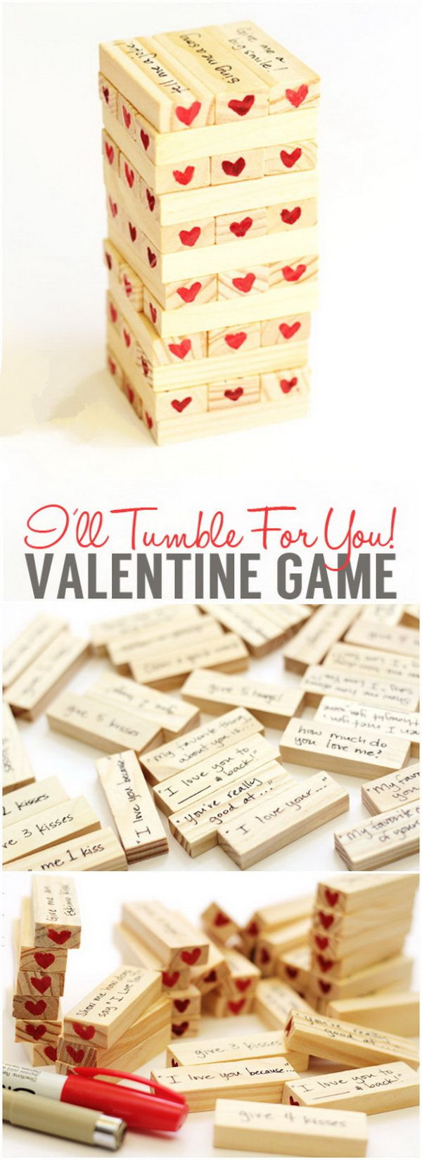 Valentine Homemade Gift Ideas For Boyfriend  Valentine's Day Hearty Tumble Game Another fun t idea