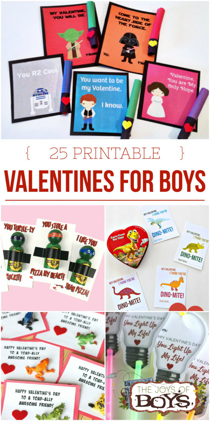 """Valentines Gift Ideas For Boys  25 Printable Valentines for Boys """"Boy Approved"""" Valentines"""