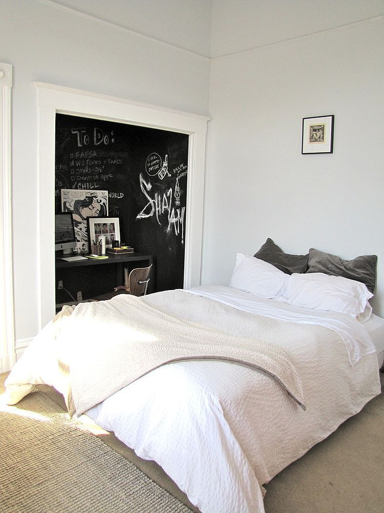 Wall Paint Ideas For Bedroom  35 Bedrooms That Revel in the Beauty of Chalkboard Paint