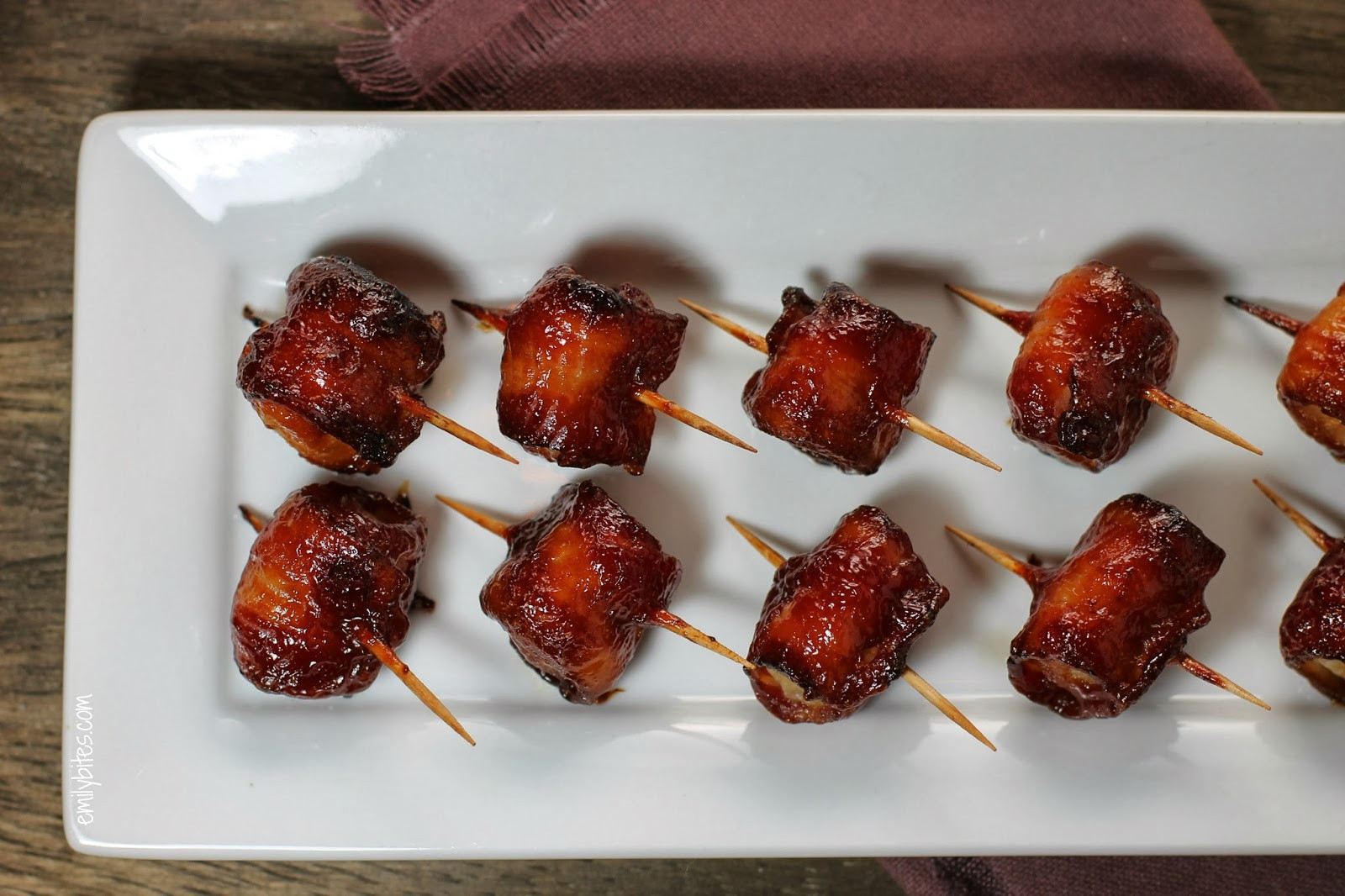 Water Chestnuts And Bacon Appetizers  Bacon Wrapped Water Chestnuts
