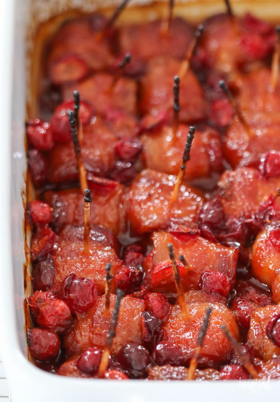 Water Chestnuts And Bacon Appetizers  Cranberry Bacon Wrapped Water Chestnuts delicious recipe