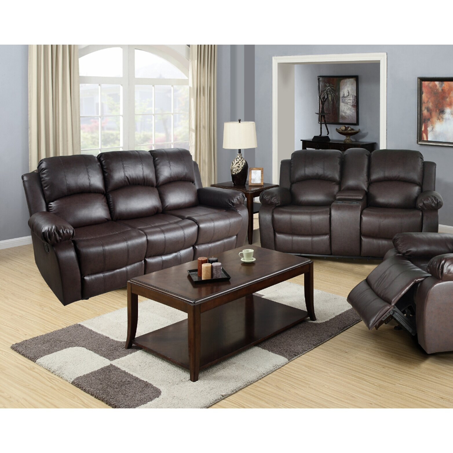 Wayfair Living Room Tables  Beverly Fine Furniture Amado 2 Piece Leather Reclining