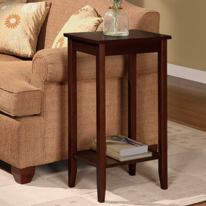 Wayfair Living Room Tables  Winston Porter Noble Rosewood Tall End Table & Reviews