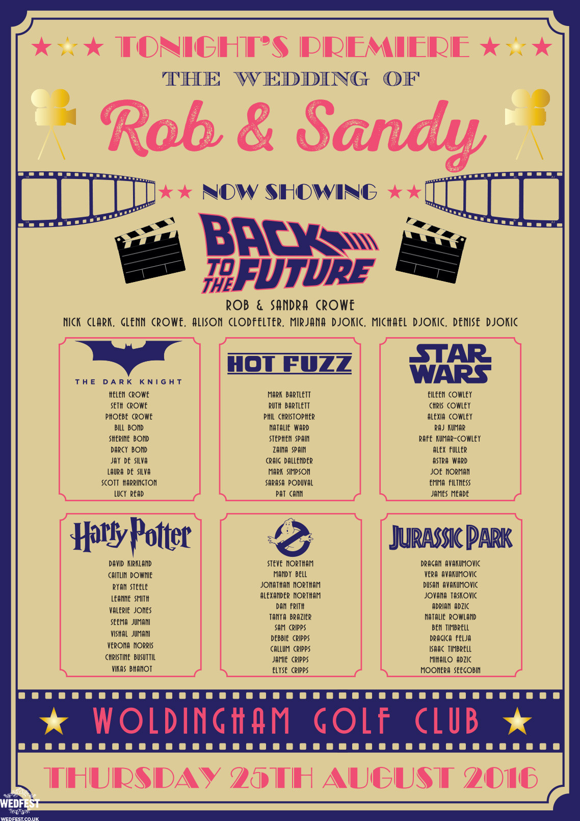 Wedding Themed Movies  Cinema and Movie themed Wedding Stationery