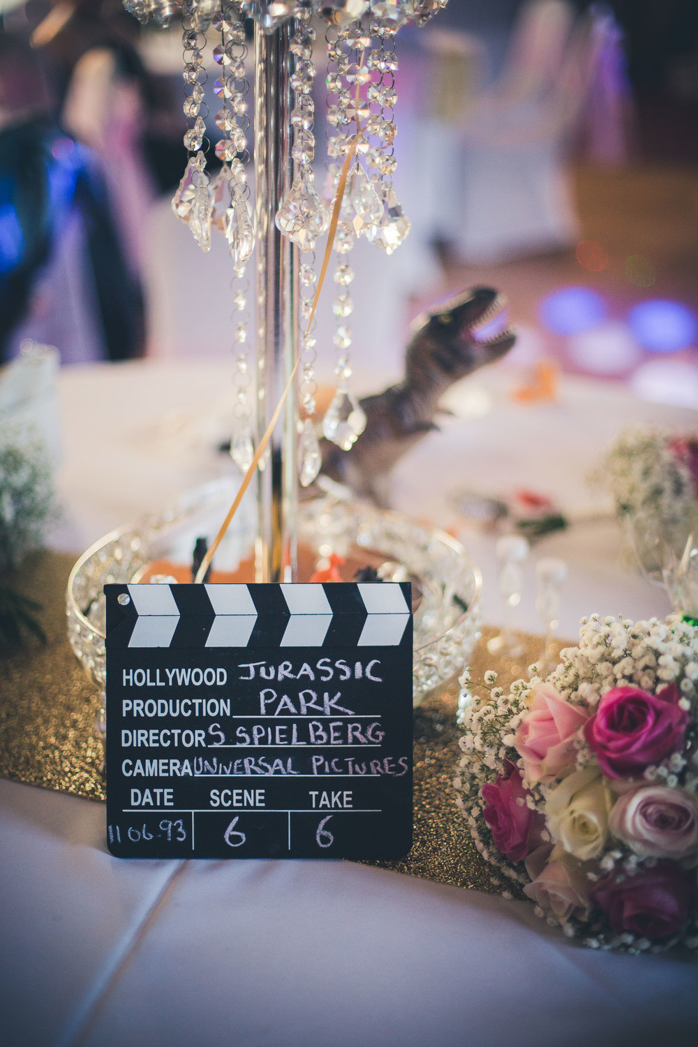 Wedding Themed Movies  A Movie themed Wedding in Wales with a pink & white