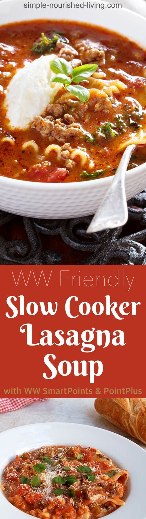 Weight Watchers Slow Cooker Lasagna  Pin on weight watchers meal ideas