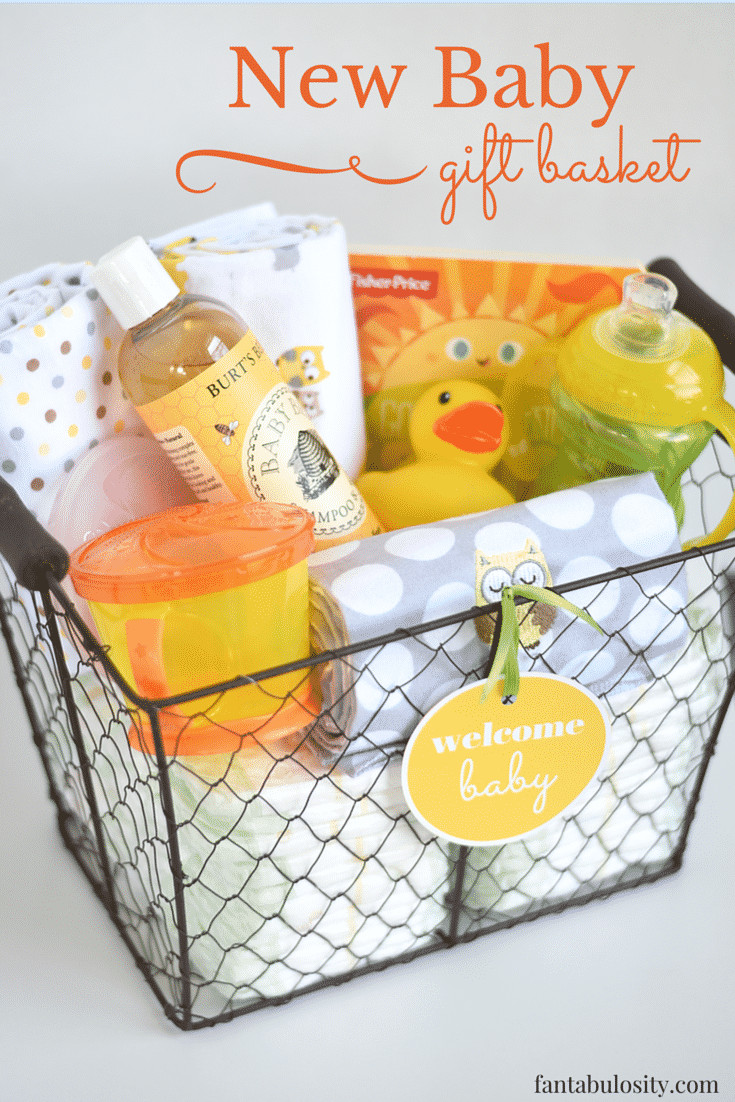 Welcome Baby Gift Ideas  DIY New Baby Gift Basket Idea and Free Printable