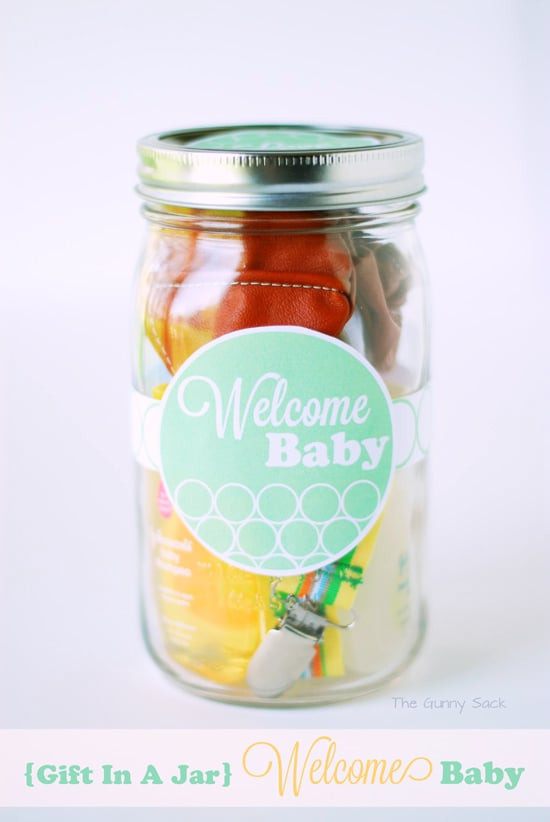 Welcome Baby Gift Ideas  Wel e Baby Gift In A Jar & mombo™ Giveaway