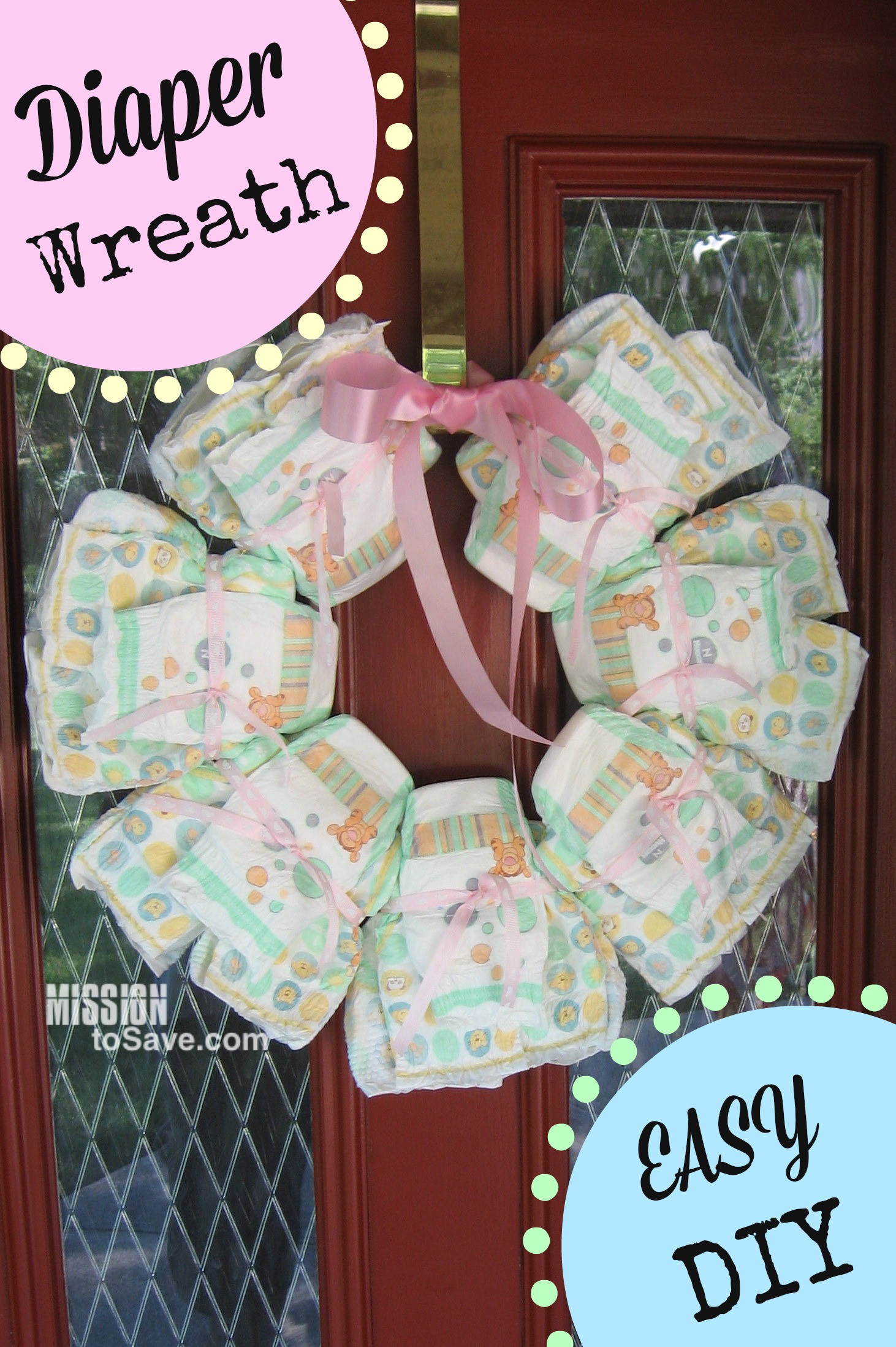 Welcome Baby Gift Ideas  Adorable Diaper Cake for DIY Baby Shower Gift Mission