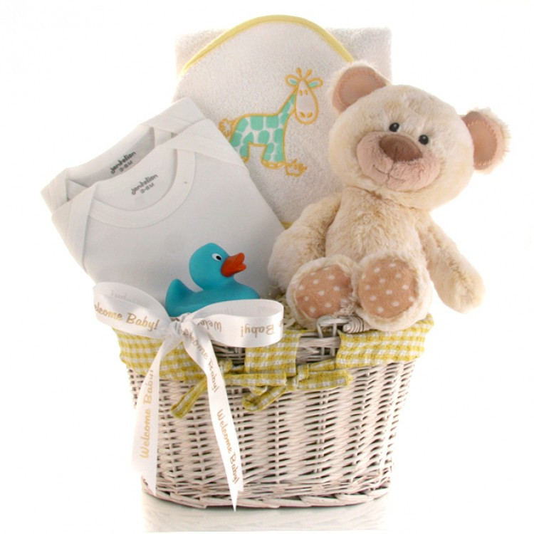Welcome Baby Gift Ideas  Wel e Baby Gift Basket Neutral Gift for Baby Shower