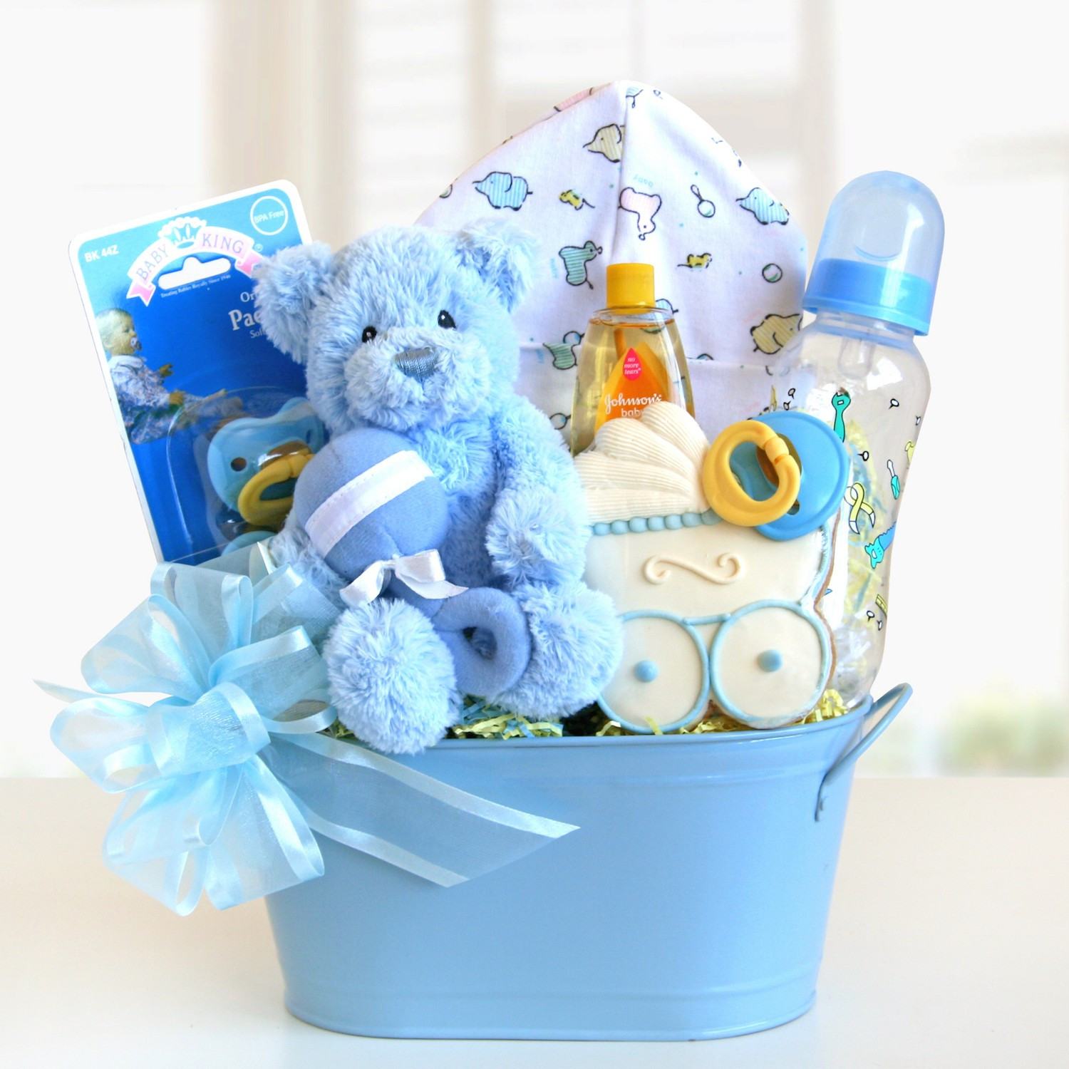 Welcome Baby Gift Ideas  Sweet and Cuddly Baby Boy Gift Basket Gift Baskets Plus