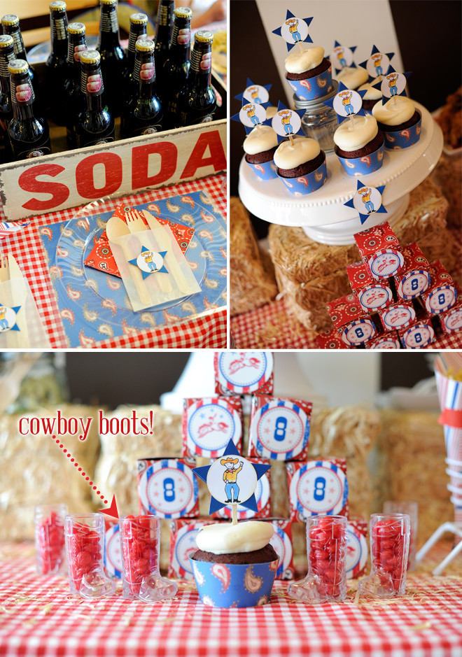 Western Theme Kids Party  Yee haw Cowboy Themed Birthday Party