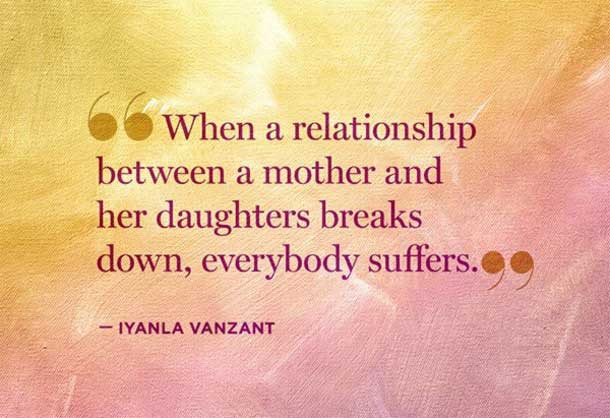 When A Daughter Hurts Her Mother Quotes  21 Famous Family Quotes with Image Freshmorningquotes