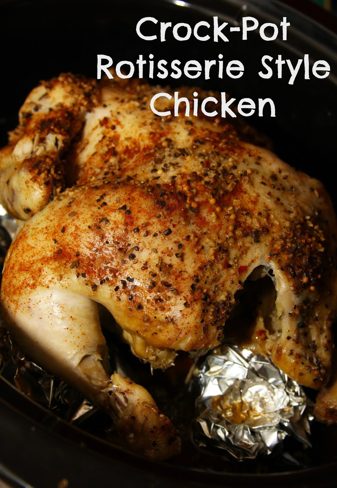 Whole Chicken Crock Pot  For the Love of Food Crock Pot Rotisserie Style Chicken