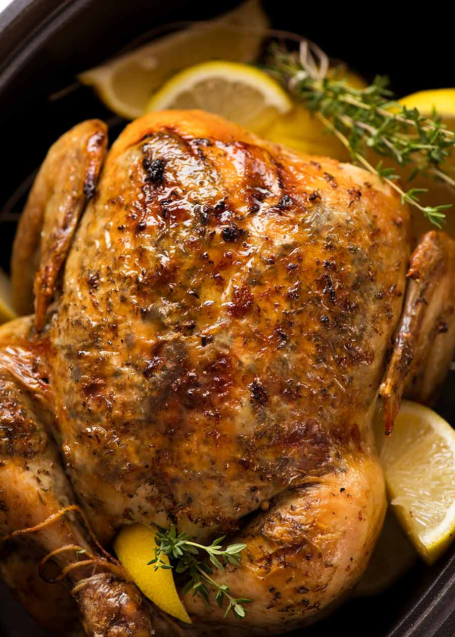 Whole Chicken In A Slow Cooker  Slow Cooker Roast Chicken
