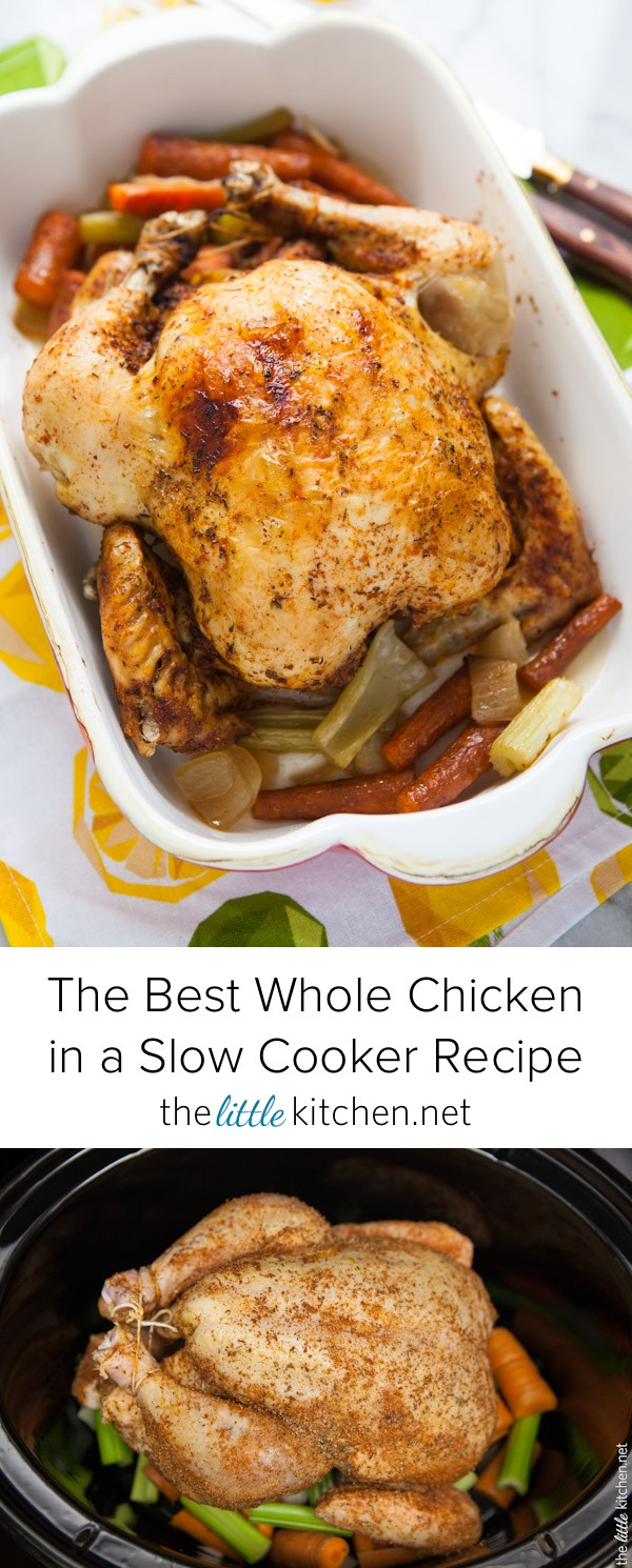 Whole Chicken In A Slow Cooker  slow cooker whole chicken frozen