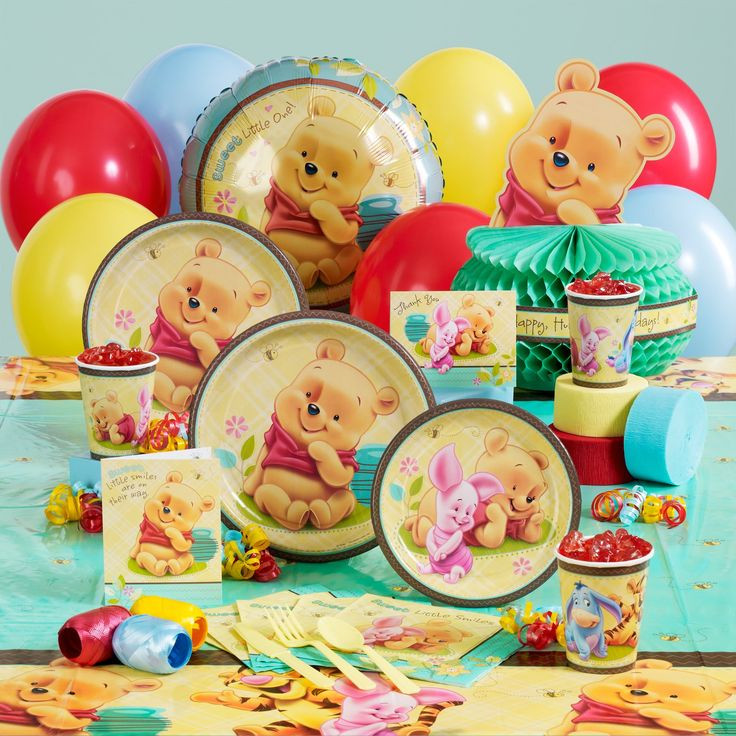 Winnie The Pooh Baby Shower Decorations Party City  17 Best images about Disney Baby Shower on Pinterest