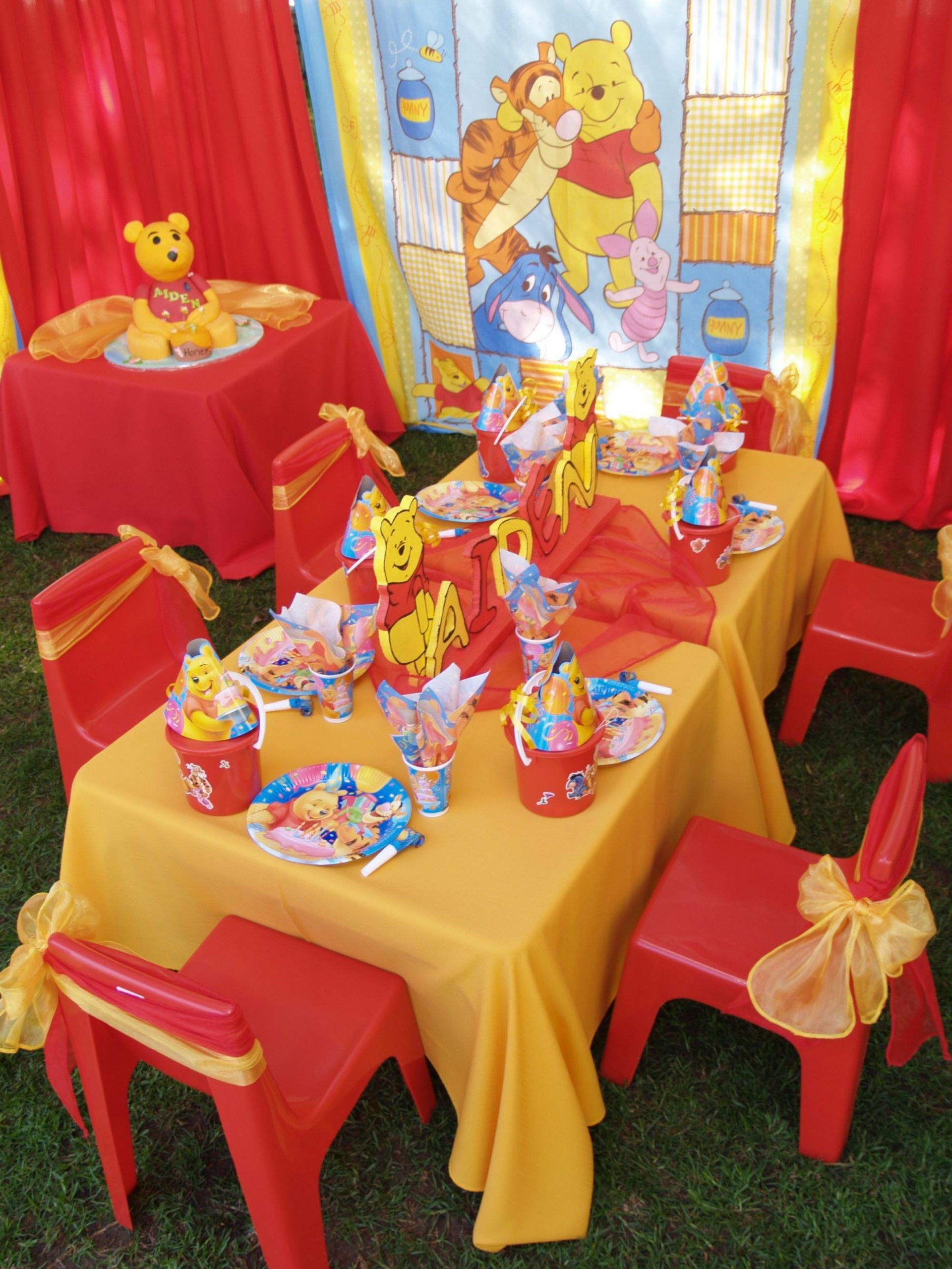 Winnie The Pooh Baby Shower Decorations Party City  Decor Beautiful Winnie The Pooh Party Supplies