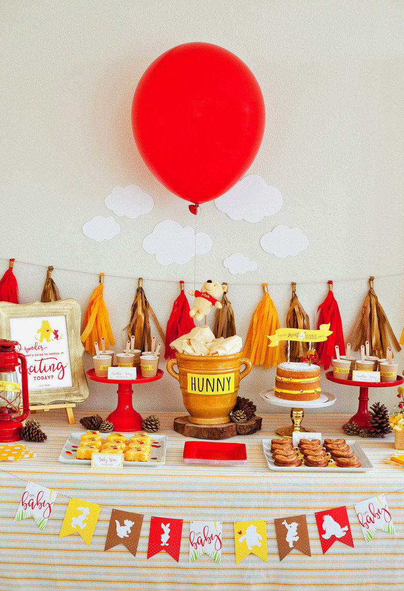 Winnie The Pooh Baby Shower Decorations Party City  Disney Baby Showers for the Mom to Be