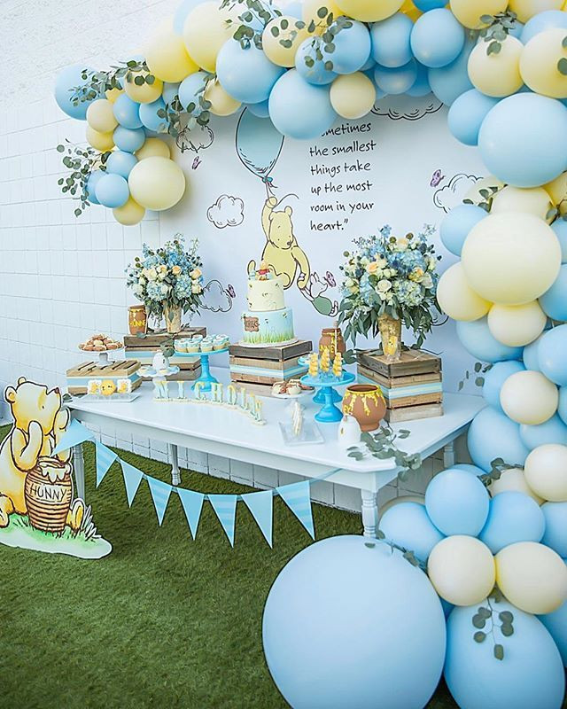 Winnie The Pooh Baby Shower Decorations Party City  I'd totally throw myself a Winnie the Pooh themed party