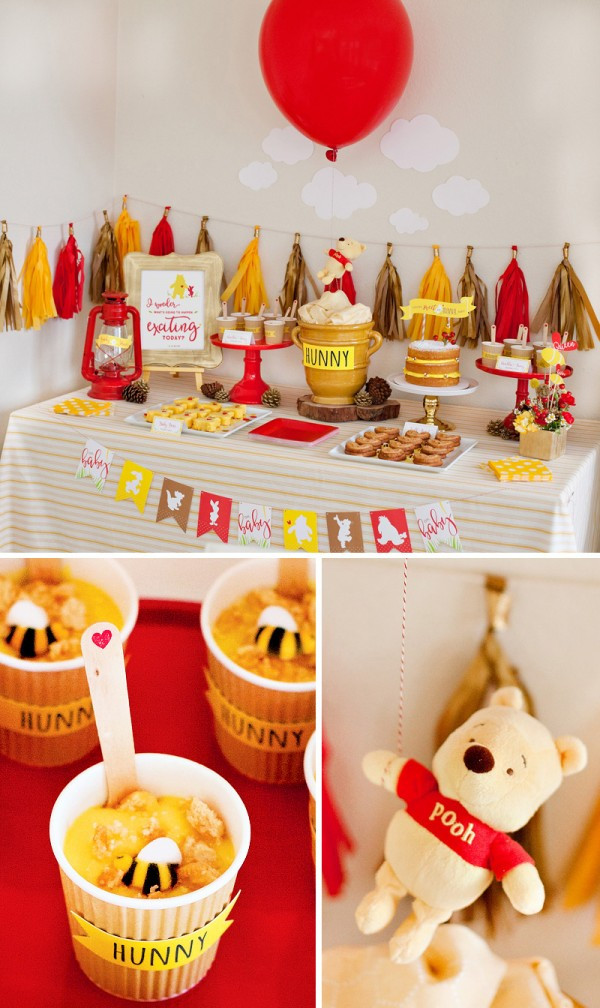 Winnie The Pooh Baby Shower Decorations Party City  This Winnie the Pooh Baby Shower Is Cute Yet Glamourous