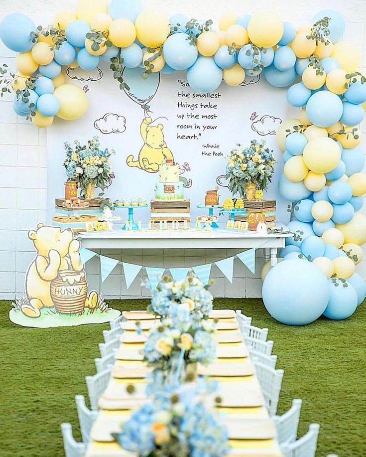"""Winnie The Pooh Baby Shower Decorations Party City  For The ️of Parties on Instagram """"The sweetest Winnie the"""