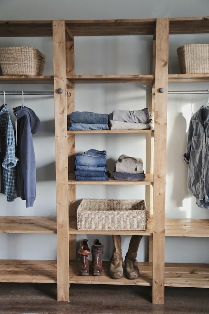 Wood Closet Systems DIY  DIY Industrial Style Wood Slat Closet System with