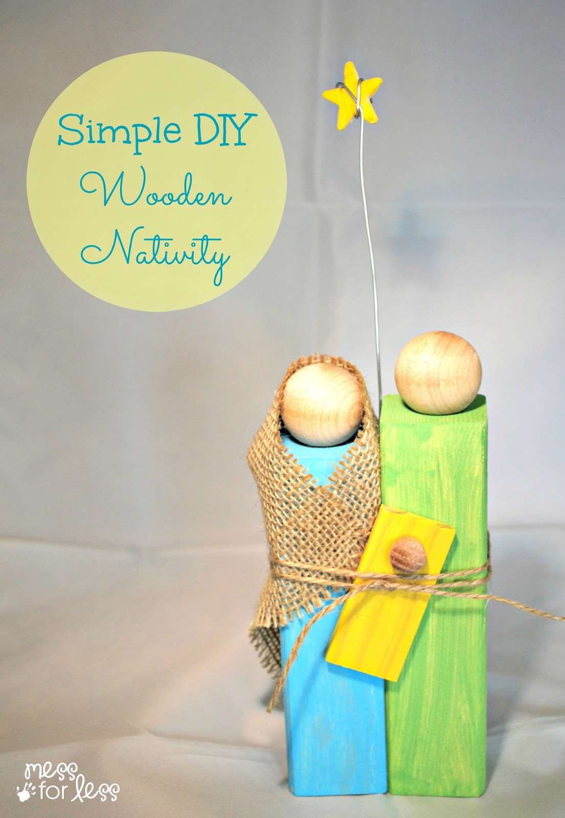 Wood Crafting Gifts  Homemade Christmas Gifts Wooden Nativity Craft Mess